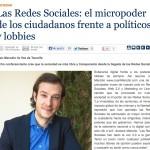"""Artículo: """"Las Redes Sociales: el Micropoder de los Ciudadanos frente a Políticos y Lobbies"""""""