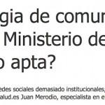 """Entrevista: """"La estrategia de comunicación digital del Ministerio de Sanidad ¿apta o no apta?"""""""