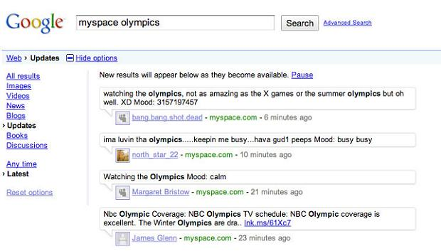myspace-google-real-time